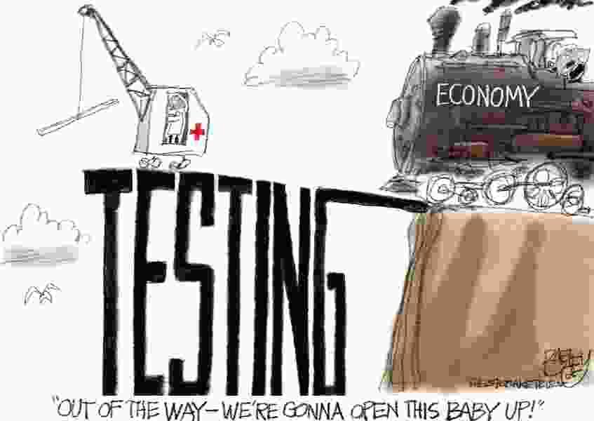 Bagley Cartoon: Bridge Out