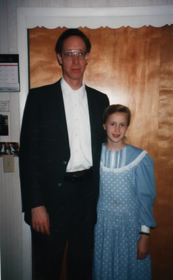 Warren Jeffs and his then-12-year-old daughter Rachel pose in this photo circa 1995. In her book,