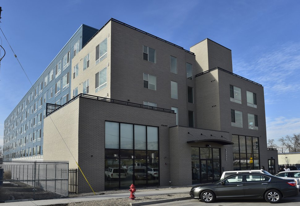(Scott Sommerdorf | The Salt Lake Tribune) The six-story Public Open Apartments on the 300 North block of 500 West, January 3, 2018, will offer affordable housing.