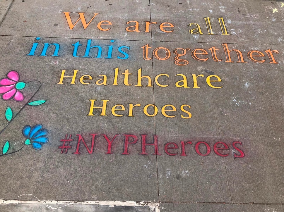 (Courtesy of Intermountain Healthcare) Intermountain medical staff took this picture of the sidewalk in New York.