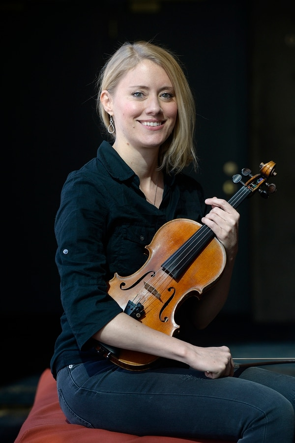 (Scott Sommerdorf | The Salt Lake Tribune) Bonnie Terry is one of the three violinists to have recently joined the Utah Symphony, Thursday, October 19, 2017.