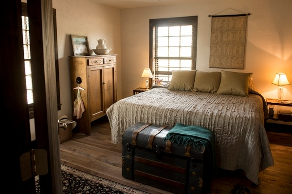 (Leah Hogsten | The Salt Lake Tribune) The second 16-by-16-foot back room was added in 1896 and now serves as a bedroom.