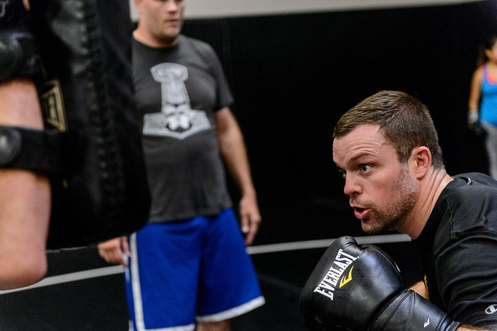 Trent Nelson   The Salt Lake Tribune Sean O'Connell works out at Jeremy Horn's Elite Performance MMA in Sandy, Wednesday June 8, 2016. O'Connell was a walk-on linebacker at the University of Utah, too slow and undersized, who continued to pursue his dream of being a professional athlete through mixed martial arts. He likewise became a sports radio personality, working on a show in the Bay Area on which UFC President Dana White. O'Connell asked White, on air, if he could have a contract. White didn't give him one. So O'Connell worked his way into a UFC contract the hard way, plowing ahead with a tough chin and hard strikes, while gaining a cult following on the Internet for his colorful weigh-in antics. Next week, in Ottawa, is a must-win fight for O'Connell as he vies to stay alive in the UFC.