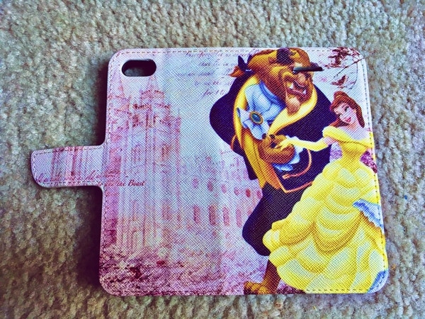 (Courtesy of Katie Abernathy Hoyos) A phone case that shows Disney characters in front of the LDS temple in Salt Lake City has taken the internet by storm.