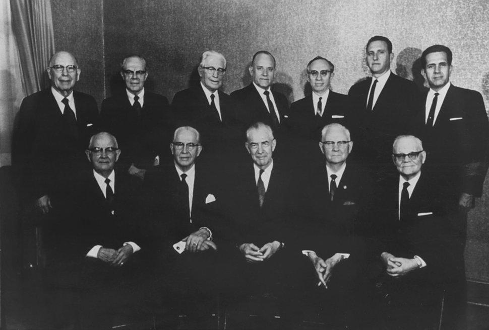 Courtesy | LDS Church Quorum of the Twelve Apostles, 1970.