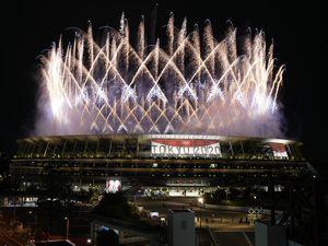 (Shuji Kajiyama   AP) Fireworks illuminate over the National Stadium during the opening ceremony of the 2020 Summer Olympics, Friday, July 23, 2021, in Tokyo.