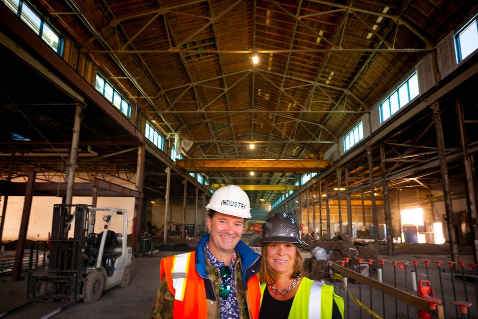 (Trent Nelson | The Salt Lake Tribune) Industry co-founders Jason and Ellen Winkler at a foundry they are renovating in Salt Lake City's Granary District on Thursday, Oct. 31, 2019.