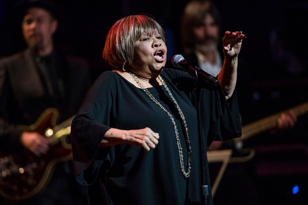 (Photo by Amy Harris/Invision/AP) Mavis Staples performs at Love Rocks NYC! at the Beacon Theatre on Thursday, March 9, 2017 in New York. She will open for Bob Dylan & His Band on Oct. 17-18 at the Eccles Theater in Salt Lake City.