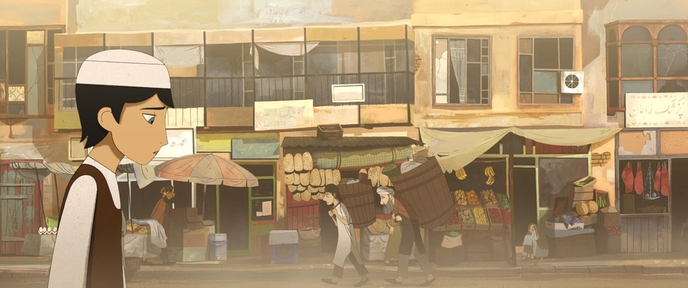 (photo courtesy GKids) Parwana (voiced by Saara Chaudry), an 11-year-old girl in Taliban-controlled Kabul, disguises herself as a boy to travel freely through the city, in the animated drama