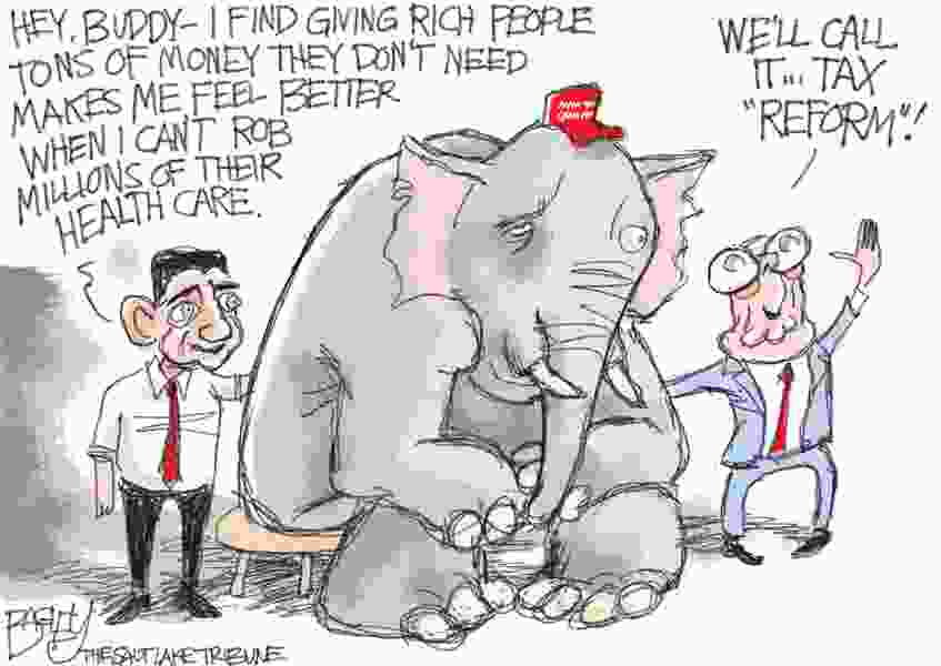 Bagley Cartonn: Sad Loser Elephant