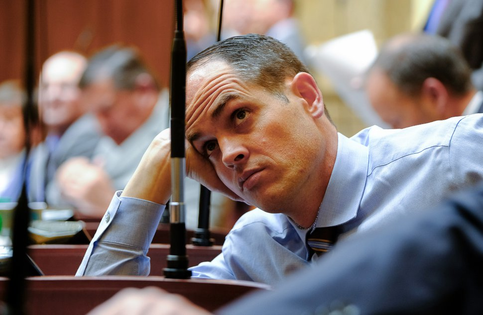 (Francisco Kjolseth | Tribune file photo) Rep. Mike McKell, R-Spanish Fork, watches the voting board in the Utah House of Representatives at the state Capitol.