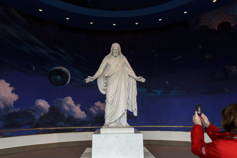Trent Nelson | The Salt Lake Tribune Christus, a statue of Jesus Christ on display on Temple Square Thursday, March 7, 2013, in Salt Lake City