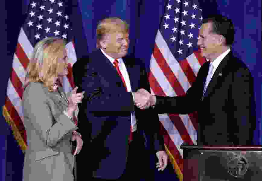 Commentary: Latter-day Saint Romney was never Christian enough for some Republicans. Somehow, Trump still is.