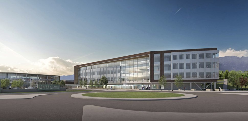(Photo courtesy of Method Studio) This is a rendering or a new business building planned for Utah Valley University's campus.