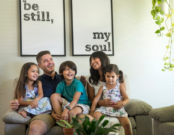 (Leah Hogsten | The Salt Lake Tribune) Kyle and Sandra Poulter in their home with their children, left to right: Delilah, 6, Morrison, 8, and Ruby, 3. Sandra Poulter initially chose not to change her last name when she married Kyle, because of the hassle, but ultimately decided to take his last name to match their children's surname .