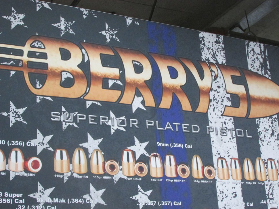 (Tom Wharton | Special to The Tribune) Berry's of St. George had a patriotic theme to its booth at the SHOT Show in Las Vegas. Pictured Jan. 23, 2018.