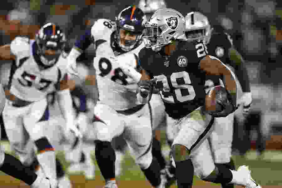 Raiders beat Broncos 24-16 in 1st game after Brown's release