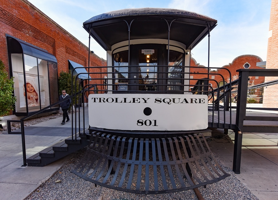 (Francisco Kjolseth | The Salt Lake Tribune) Salt Lake City's Trolley Wing Co. is once again serving cold beer and chicken wings from its namesake streetcar at Trolley Square.
