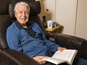 (Rick Egan   The Salt Lake Tribune) Robert Fletcher sits in his favorite chair at home in Salt Lake City on Monday, May 24, 2021. He turned 100 on May 27.