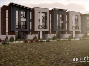 (Image courtesy of Adam Breen) Renderings of homes proposed for the Highland area of Park City.