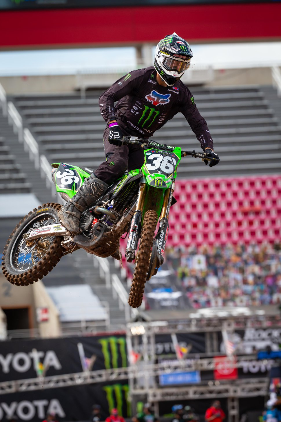 Feld Entertainment Global Public Relations (Feld Entertainment) Coalville's Garrett Marchbanks rides to a third-place finish in the 250cc class during Sunday's Supercross races at Rice-Eccles Stadium in Salt Lake City.