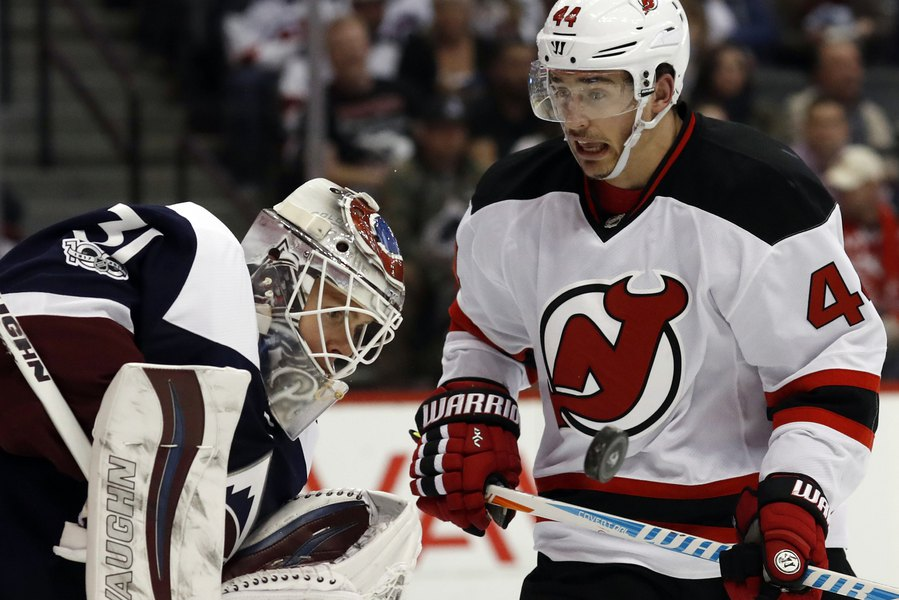 the latest 60933 92abf NHL roundup: Miles Wood has hat trick, Devils outscore ...