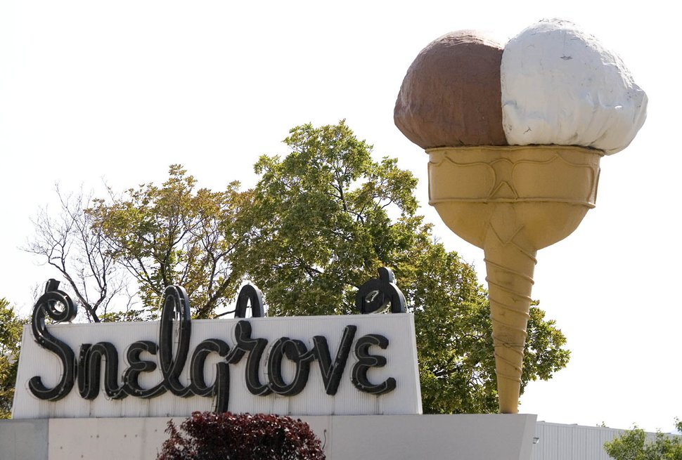 (Paul Fraughton   Tribune file photo) The Snelgrove ice cream sign in Sugar House, Tuesday, July 2, 2013.