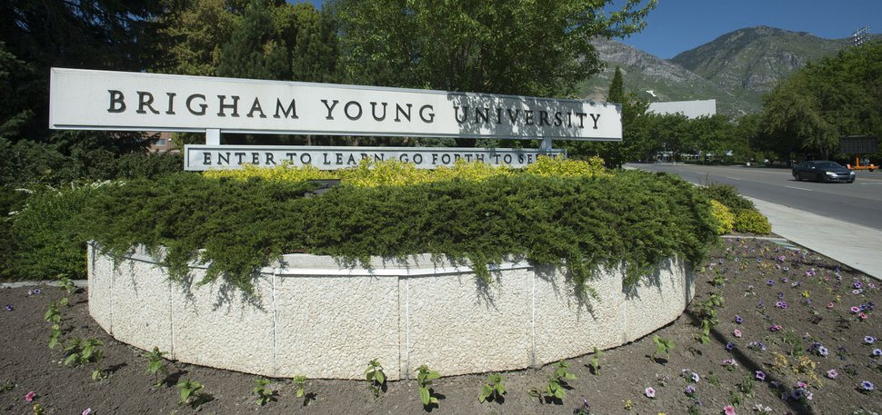 Steve Griffin / The Salt Lake Tribune The BYU campus in Provo Wednesday June 1, 2016.