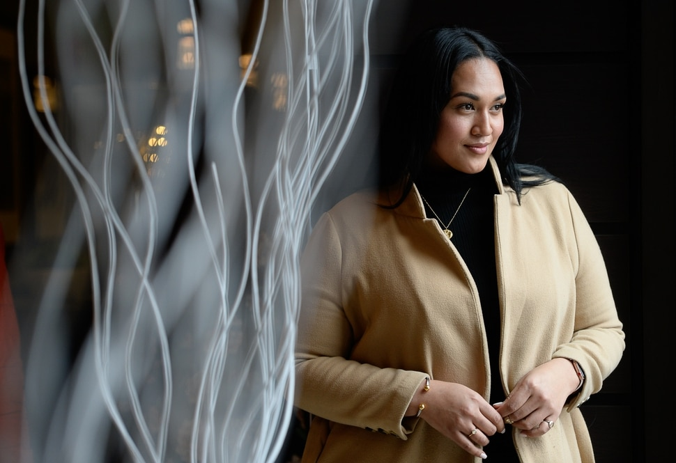 (Francisco Kjolseth | The Salt Lake Tribune) Veronica Pome'e, the first Polynesian woman to be featured in Sports Illustrated's swimsuit edition, visits Utah to speak at the sixth annual National Violence Pacific Island Prevention Conference held in Salt Lake City April 11-13, 2019.
