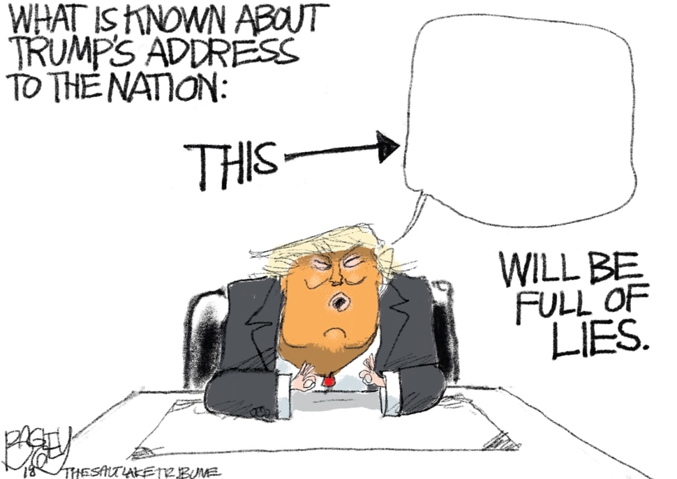 This Pat Bagley cartoon appears in The Salt Lake Tribune on Tuesday, Jan. 8, 2019. (Pat Bagley | The Salt Lake Tribune)