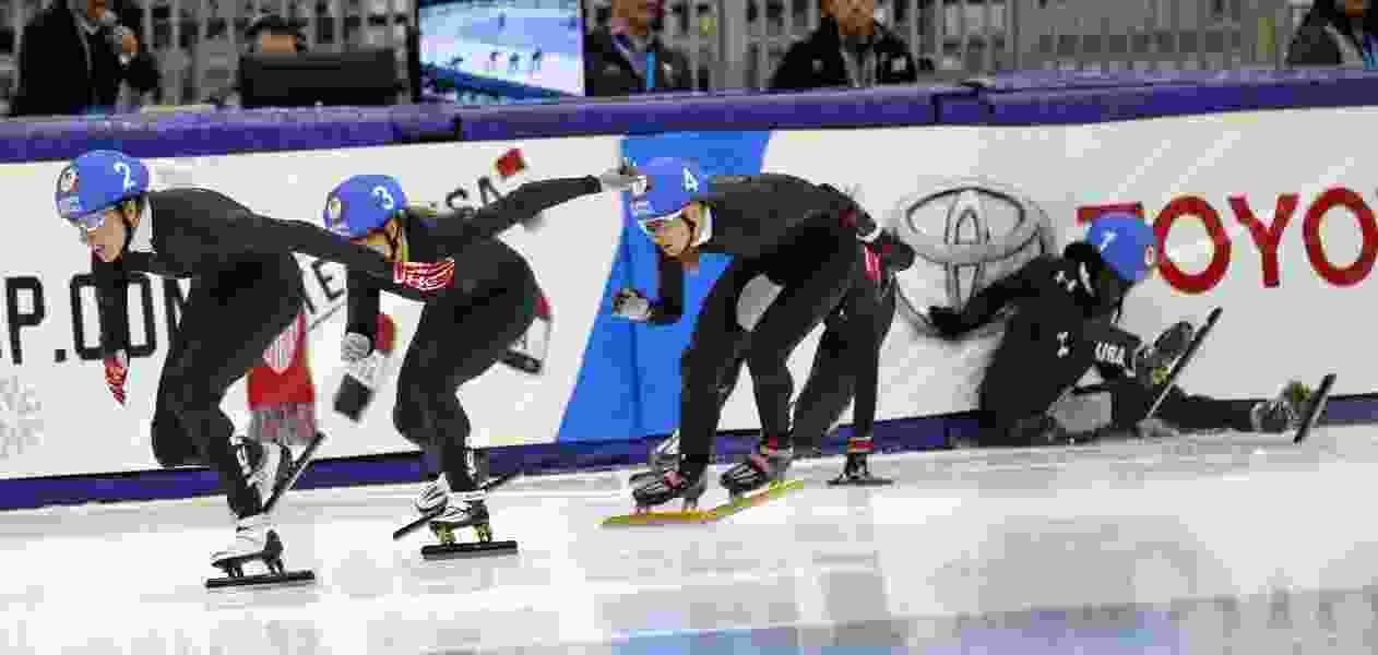 Short track speedskating team returns for national championships in Utah with worlds berths on the line