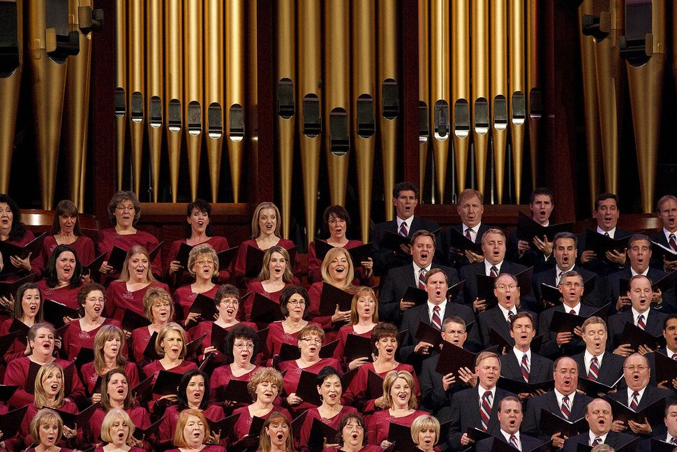(Trent Nelson | The Salt Lake Tribune) The Mormon Tabernacle Choir performs at the First Presidency Christmas Devotional Sunday, Dec. 5, 2010, at the LDS Conference Center in Salt Lake City.