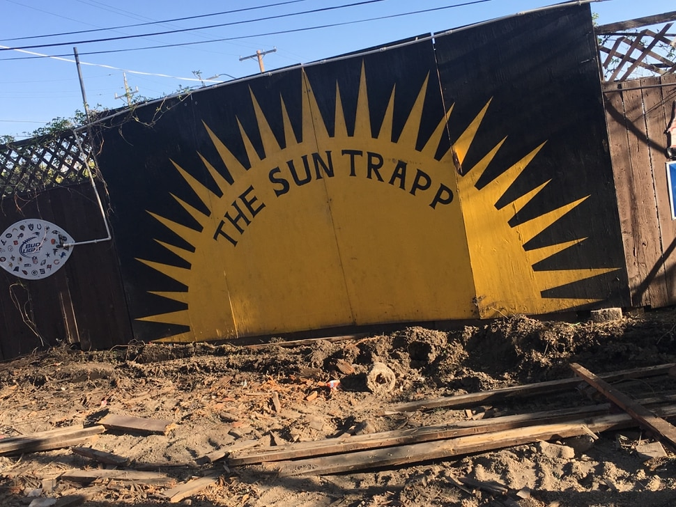 The Sun Trapp patio shows improvements in progress under new ownership following the April 9 death of previous owner Rob Goulding.