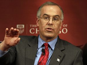 New York Times columnist David Brooks at the University of Chicago in 2012.