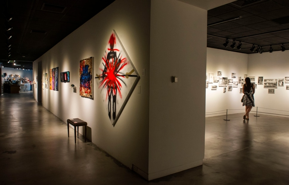 (Rick Egan | The Salt Lake Tribune) The The OutLoud: Ostracized and Masked exhibit, and theDeanna and Ed Templeton's Contemporary Suburbium photo exhibit, at The Utah Museum of Contemporary Art, Thursday, June 27, 2019.