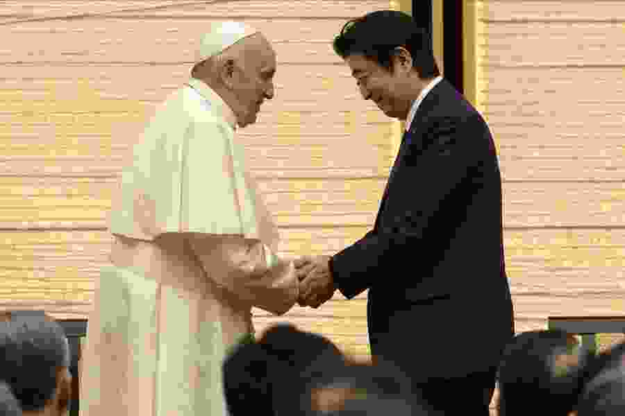 Pope Francis in Japan voices concern over nuke power, meets victims
