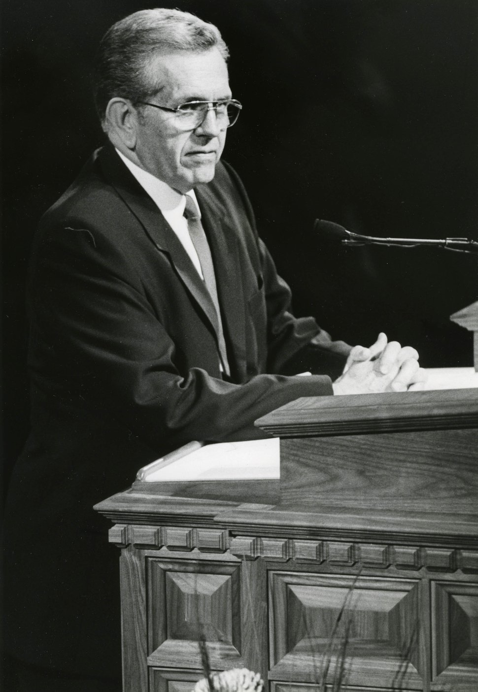 Tribune file photo Latter-day Saint apostle Boyd K. Packer speaks at General Conference.