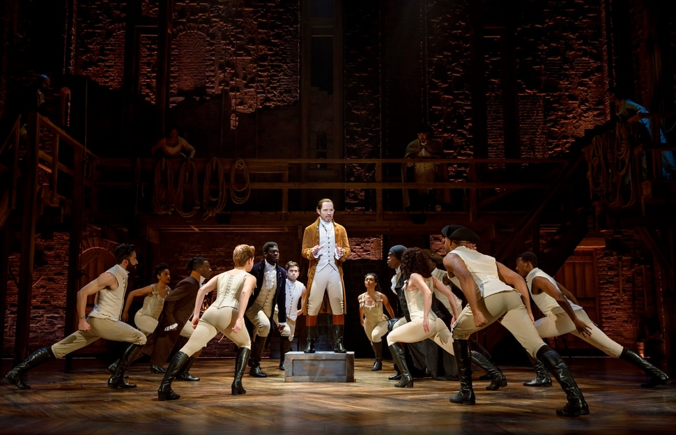(Courtesy photograph by Joan Marcus) Joseph Morales and Nik Walker lead the second national tour of Hamilton as Alexander Hamilton and Aaron Burr, which will play Salt Lake City's Eccles Theater April 11-May 6.