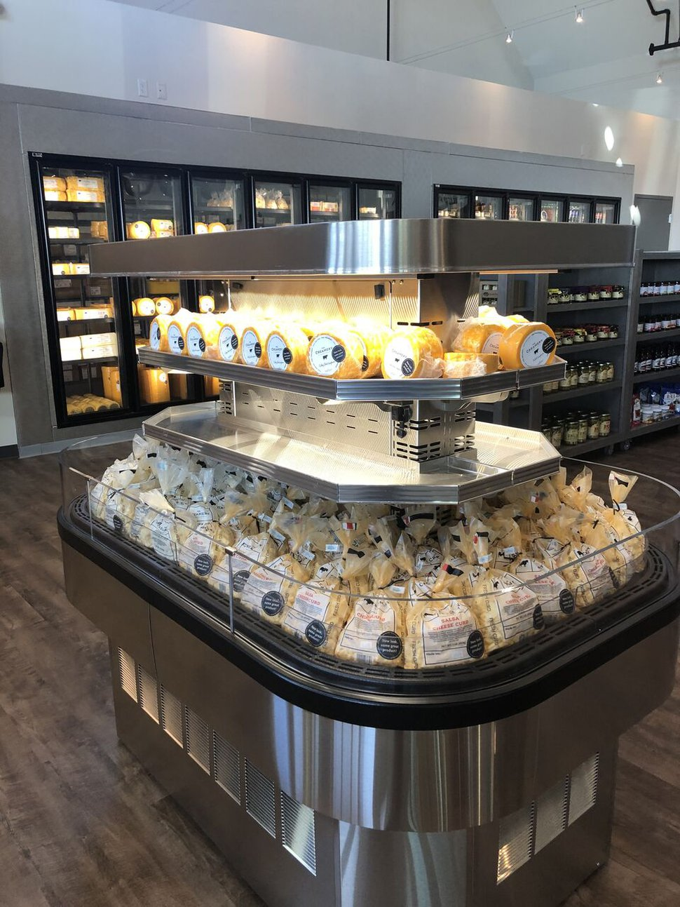 (Heather L. King | For The Salt Lake Tribune) A cheese display at The Creamery, a new retail store in Beaver, Utah.