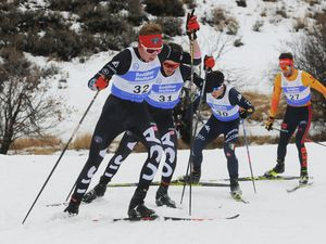File photo courtesy of Tom Kelly Jared Schumate of Park City competes in the cross country portion of a previous Nordic Combined Continental Cup at Soldier Hollow. Schumate is registered to compete at this weekend's event if it a COVID-19 outbreak doesn't cancel it.