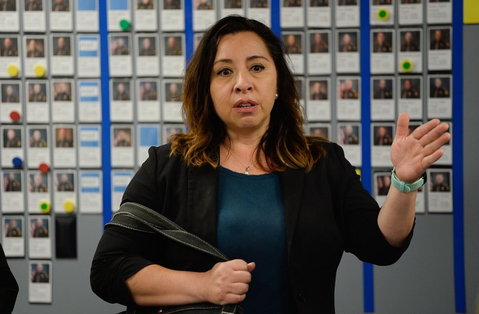 (Francisco Kjolseth | The Salt Lake Tribune) Rep. Angela Romero, D-Salt Lake, was the sponsor of House Bill 200, which passed in 2017 and implements funding to create a statewide sexual assault kit tracking system that will allow survivors to monitor their rape kits in real time, discusses progress being made during a press event at the Calvin Rampton Complex in Taylorsville on Wed. June 6, 2018. Romero said she thinks the results of the #MeToo haven't yet been reflected in policy.