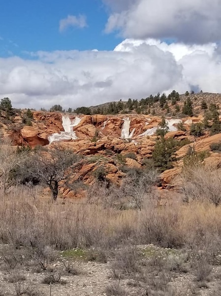 "(Photo courtesy of Utah State Parks) Residents in southwest Utah are watching rivers and creeks, hoping they don't create floods. But at Gunlock State Park, they are smiling at the flows. The wet winter has created ""very impressive"" waterfalls at Gunlock State Park, according to a post on Facebook by Utah State Parks. The waterfalls occur most springs when Gunlock Reservoir overflows, but the photos posted on social media show especially strong flows over multiple red rock ledges."