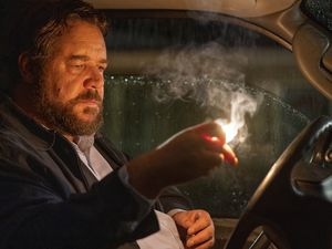 "(Photo courtesy of Solstice Studios) Russell Crowe plays a psychotic motorist in ""Unhinged,"" which Solstice Studios is opening in theaters nationwide on Aug. 21 — the first major Hollywood release since the COVID-19 pandemic shut down theaters coast to coast."