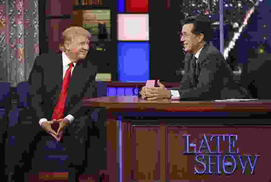 Scott D. Pierce: Donald Trump turned late-night TV around, to the benefit of Stephen Colbert