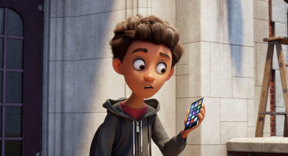 This image released by Sony Pictures shows Alex, voiced by Jake T. Austin, in Columbia Pictures and Sony Pictures Animation's