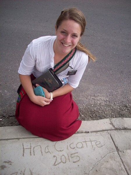 (Courtesy of Maddy Cicotte) Maddy Cicotte on her mission in Bolivia in 2015-2016.