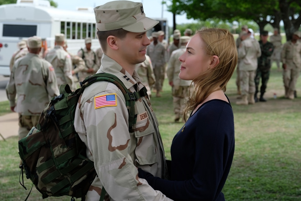 """(Photo courtesy of Van Redin/National Geographic) Jason Ritter stars as Capt. Troy Denomy and Kate Bosworth as Gina Denomy in """"The Long Road Home."""""""