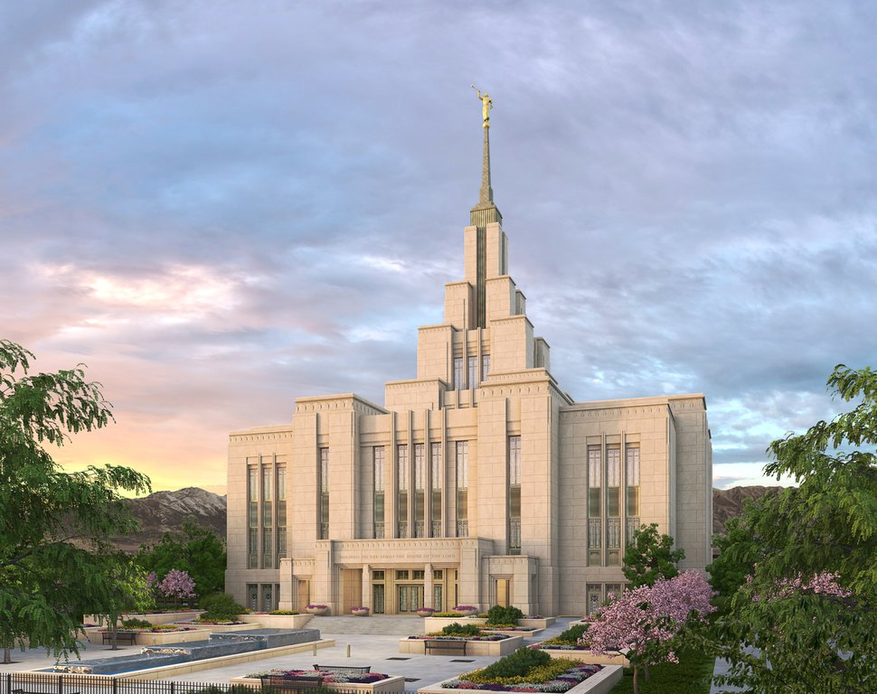 (Rendering courtesy of The Church of Jesus Christ of Latter-day Saints) The Saratoga Springs Temple.