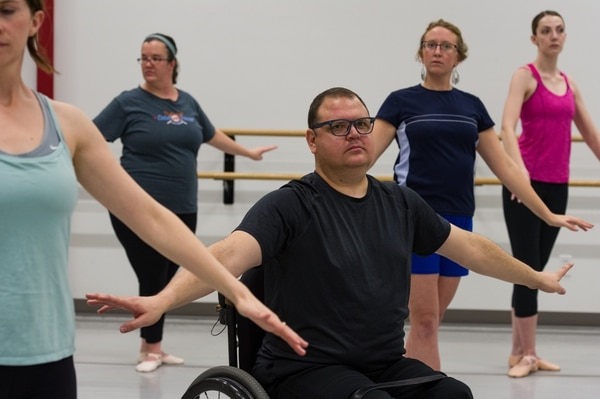 (Alex Gallivan   Special to the Tribune) Participants learn the benefits of working out with ballet during a recent Ballet West Academy exercise class for beginners.