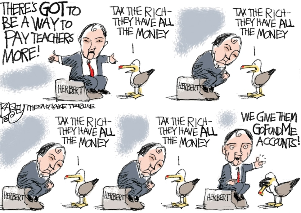 This Pat Bagley cartoon appears in The Salt Lake Tribune on Thursday, Sept. 13, 2018.